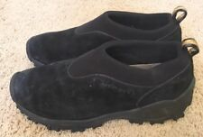 Woman's Merrell Winter Moc Black Leather Slip-on Loafers Size 9.5
