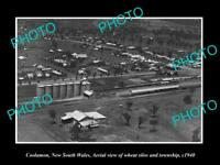 OLD LARGE HISTORIC PHOTO OF COOLAMON NSW, AERIAL VIEW OF THE TOWN c1940