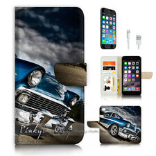( For iPhone 6 / 6S ) Wallet Case Cover P3422 Old Car