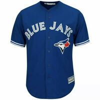 Majestic Cool Base Toronto Blue Jays Mens Baseball Button Up Stitched Jersey NWT