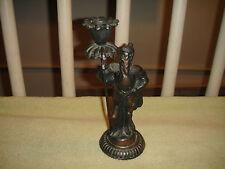 Vintage Viking Candlestick Holder-Cast Metal Spelter-Unique Candle Holder-LQQK