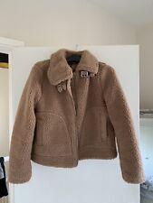 H&M Camel Faux Fur Biker Jacket- Small