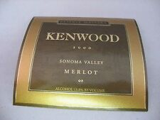 Wine Label: KENWOOD 2000 Merlot Reserve Massara Sonoma Valley California