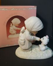 New ListingPrecious Moments Enesco Pm-871 1987 Members Only Figurine Feed My Sheep 1986
