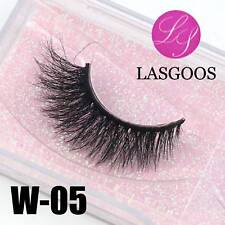 W-05 Full Strips 3D Messy Mink Crosscriss Winged False Eyelashes Eye Extension