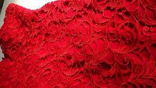 SIZE-12, BARIANO BLACK Stunning Red Lace Dress.