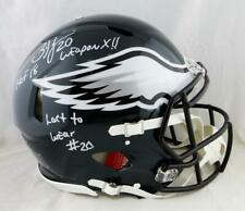 Brian Dawkins Signed Eagles F/S Speed Authentic Helmet W/ 3 Insc- JSA W Auth *Wh