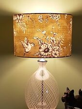 FABRIC LAMPSHADE 30cm ILIV FRENCH Finch Toile COTTAGE COUNTRY FARM FLORAL BIRD