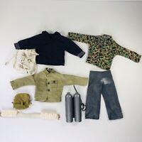 Vintage G I Joe Clothes Accessories 8 Piece Lot Navy Army Scuba Pack Civilian