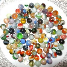 Vintage Glass MARBLES Lot of 100 Swirl Spiral