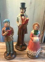 Kurt S Adler Christmas Caroler Statues Set of 3 Decorations