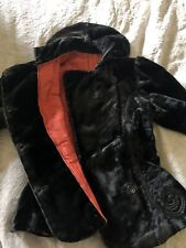 Vintage Handmade Velvet Beaded Coat With Red Lining