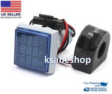 Ac Digital 500v 100a 75hz Square Panel Meter Voltmeter Ammeter Frequency Coil