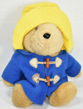 Eden PADDINGTON BEAR IN BLUE JACKET YELLOW HAT Stuffed Animal PLUSH TEDDY TOY