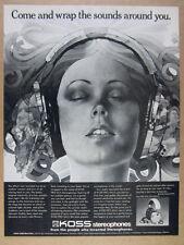 1976 Koss PRO 4AA Stereophones headphones vintage print Ad