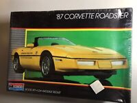 Vintage Monogram '87 Corvette Roadster Plastic Unassembled Model Kit.