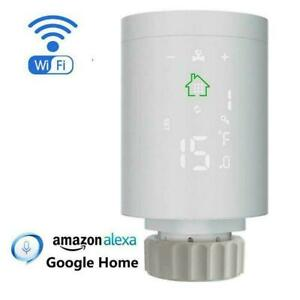 WiFi Programmable Radiator Valve Actuator Thermostat Control Voice S1M6
