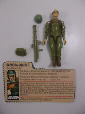 Vintage GI JOE arah ZAP V1 straight arm 1982 COMPLETE W Filecard Intact thumbs