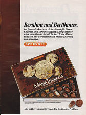 SPRENGEL - MARIA THERESIA PRALINES - PUBLICITE PRESSE / ADVERT 1985 ALLEMAGNE