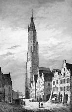 GERMANY (BAVARIA) - St MARTIN of LANDSHUT - Engraving from 19th century