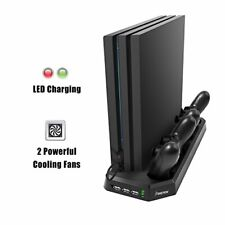 PS4 Pro Charging Station Built In Cooling Fan Vertical Stand Design 3 USB Ports