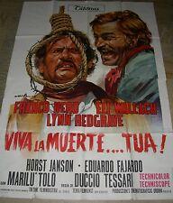 VIVA LA MUERTE TUA-TESSARI-FRANCO NERO, ELI WALLACH-ITALIAN WESTERN, 4 SH POSTER