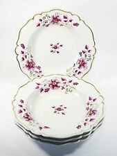 FLIGHT BARR & BARR - 4 Hand Painted & Gilt Porcelain Soup Bowls - UK - C.1813-40