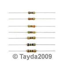 50 x Resistors 100K Ohms OHM 1/4W 5% Carbon Film - Free Shipping