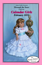 Crochet Calendar Girls 1853 Crochet 18 inch doll dress pattern by Annie Potter