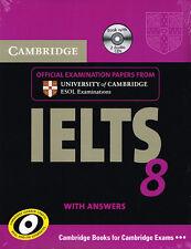 Cambridge IELTS 8 LIBRO & CD 'S Set per documenti di esame con le risposte @NEW @