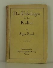 SIGMUND FREUD Civilization and It's Discontents GERMAN FIRST EDITION