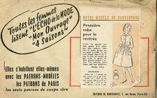 Vintage Premiére Robe Pour le Rentrée French Sewing Pattern G153 Taille 44