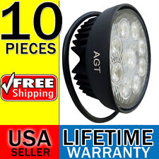 10pcs x 27W LED work Flood round Light 12V 24V Off road Truck 4x4 Boat SUV lamp