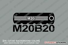 1x  M20B20 engine theme sticker - for BMW e30 320i , E28 / E34 520i M20