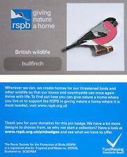 RSPB Pin Badge | Bullfinch | GNaH backing card [00871]