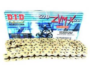 Catena DID 520ZVM-X (Gold & Gold), 120 maglie con giunto a rivetto (ZJ)