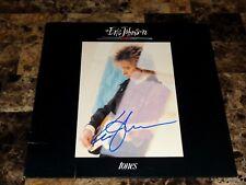 Eric Johnson Rare Authentic Signed Tones 1st Pressing Vinyl Record + Photo + COA