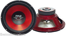 "Single 10"" inch Red 4 ohm Performance Car Home Audio Stereo Woofer Bass Speaker"