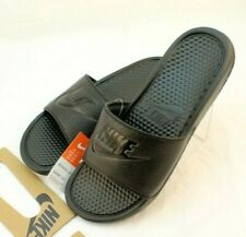 New NIKE Benassi JDI Size 13 Black / Black Men's Slide Sandals With Logo