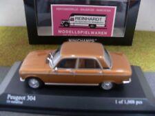 PEUGEOT 304 1972 Gold Metallic Modellauto 1 43 / MINICHAMPS