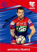 ✺Signed✺ 2020 NEWCATLE KNIGHTS NRL Card MITCHELL PEARCE Best & Less