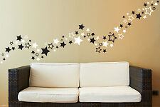 Up to 81 Star shape wall art stickers for Bedroom Bathroom playroom living room