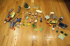 PLAYMOBIL 12 FIGURE LOT Kitchen 4283 classroom dinosaur scooter moped