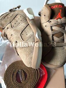Nike Air Jordan 6 SP TD Cactus Jack Travis Scott Khaki DH0690-200 Toddler sz 6C