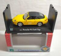 CARARAMA 1:43 SCALE PORSCHE 911 SOFT TOP - YELLOW - #250069 - BOXED