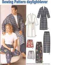 Men Women Pajamas Sleep Pants Shorts Robe Sewing Pattern 5314 i New Size XL-XXXL