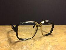 eb065afad330 Vintage Mens Eyeglasses Hipster 60 s 70 s Authentic 54-17-140 Black Clear