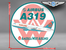 AMERICA WEST AIRLINES AWE AIRBUS A319 ROUND DECAL / STICKER