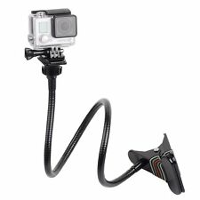 """Clamp Mount Jaws Clip Arm Neck Tripod with 27.5"""" Gooseneck Extension for Gopro"""