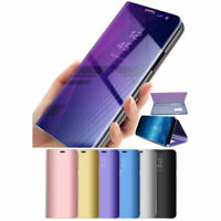 360°Plating Mirror Flip Phone Case Stand for Samsung Galaxy Note S10 S9 S8 S7 S6
